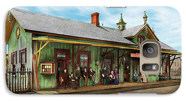 Galaxy Case featuring the photograph Train Station - Garrison Train Station 1880 by Mike Savad