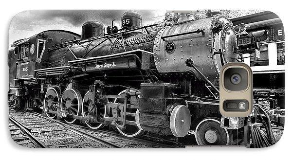 Train - Steam Engine Locomotive 385 In Black And White Galaxy S7 Case