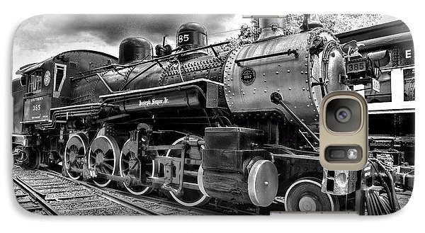 Train Galaxy S7 Case - Train - Steam Engine Locomotive 385 In Black And White by Paul Ward