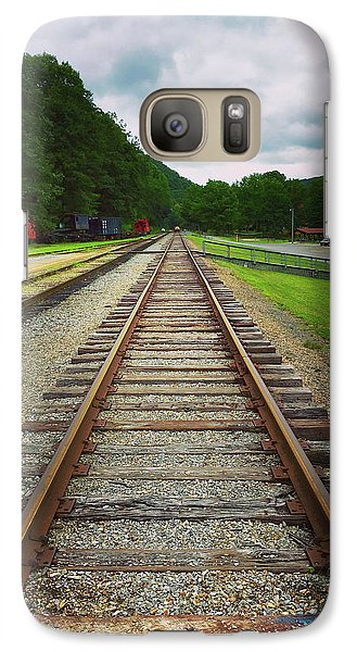 Galaxy Case featuring the photograph Train Tracks by Linda Sannuti