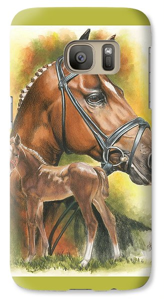 Galaxy Case featuring the mixed media Trakehner by Barbara Keith