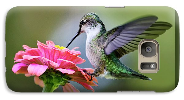 Tranquil Joy Hummingbird Square Galaxy S7 Case by Christina Rollo