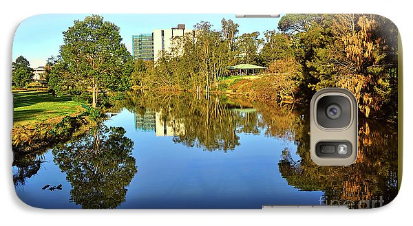 Galaxy Case featuring the photograph Tranquil River By Kaye Menner by Kaye Menner