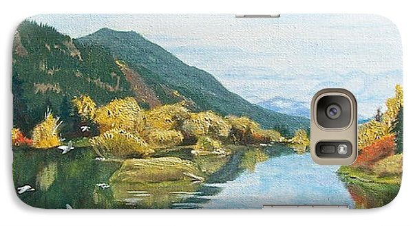 Galaxy Case featuring the painting Tranquil Waters by Bonnie Heather