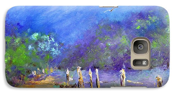 Galaxy Case featuring the painting Tranquility by AmaS Art