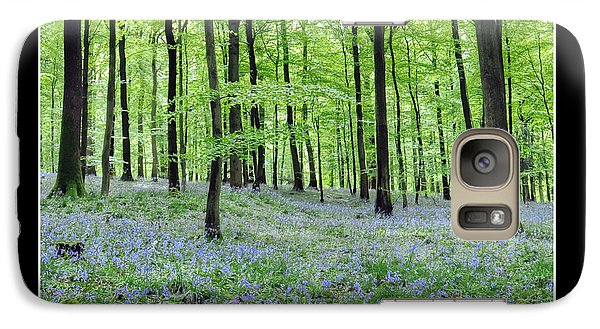 Galaxy Case featuring the photograph Tranquility - Bluebells In Woods by Geraldine Alexander