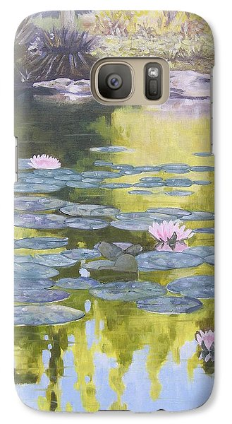 Galaxy Case featuring the painting Tranquility IIi Furman University by Robert Decker