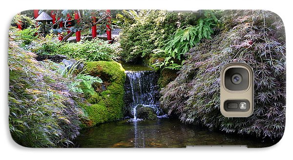 Galaxy Case featuring the photograph Tranquility In A Japanese Garden by Laurel Talabere