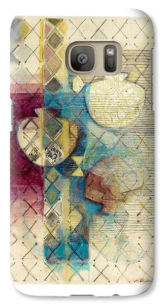 Galaxy Case featuring the painting Trans Xs No 1 by Kerryn Madsen- Pietsch