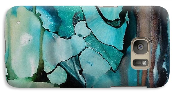 Galaxy Case featuring the painting Transcendence Wth Goddess by Suzanne Canner