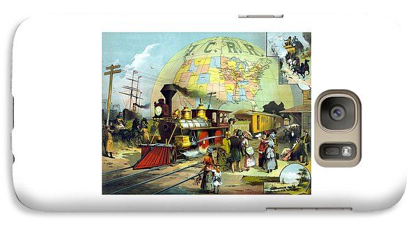 Train Galaxy S7 Case - Transcontinental Railroad by War Is Hell Store
