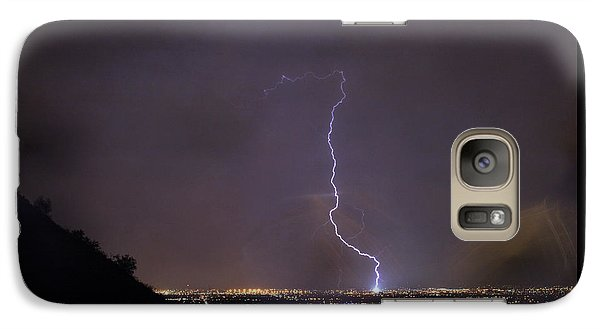 Galaxy S7 Case featuring the photograph It's A Hit Transformer Lightning Strike by James BO Insogna