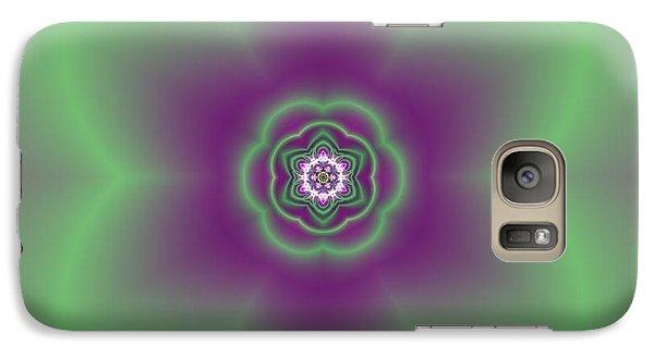 Galaxy Case featuring the digital art Transition Flower 6 Beats 2 by Robert Thalmeier