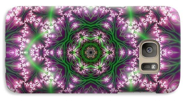 Galaxy Case featuring the digital art Transition Flower 6 Beats 4 by Robert Thalmeier