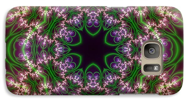 Galaxy Case featuring the digital art Transition Flower 6 Beats by Robert Thalmeier