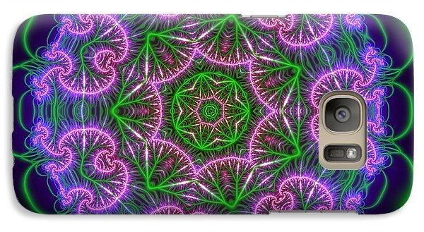 Galaxy Case featuring the digital art Transition Flower 7 Beats by Robert Thalmeier