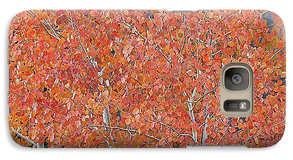 Galaxy Case featuring the digital art Translucent Aspen Orange by Gary Baird