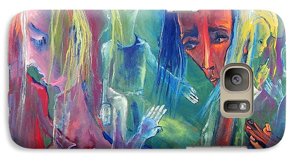 Galaxy Case featuring the painting Translucent Fragments Of A Broken Family by Kenneth Agnello