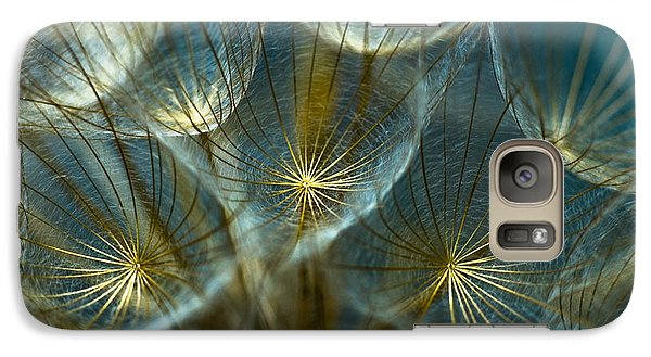 Galaxy Case featuring the photograph Translucid Dandelions by Iris Greenwell