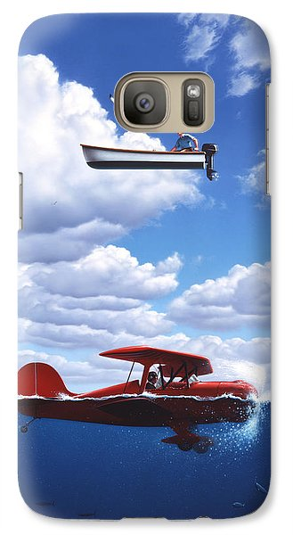 Seagull Galaxy S7 Case - Transportation by Jerry LoFaro