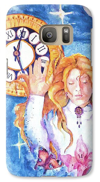 Galaxy Case featuring the painting Trapped In Time And Space by P Maure Bausch