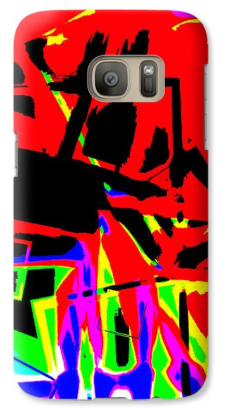 Galaxy Case featuring the digital art Trator Crash by Lola Connelly