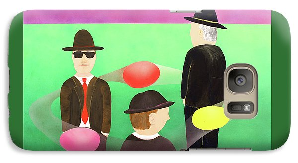 Galaxy Case featuring the painting Traveling In The Right Business Circles by Thomas Blood