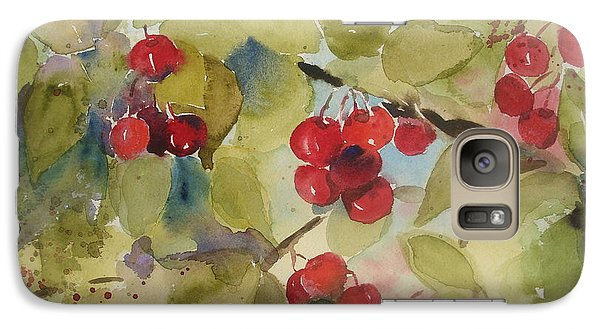 Galaxy Case featuring the painting Traverse City Cherries by Sandra Strohschein