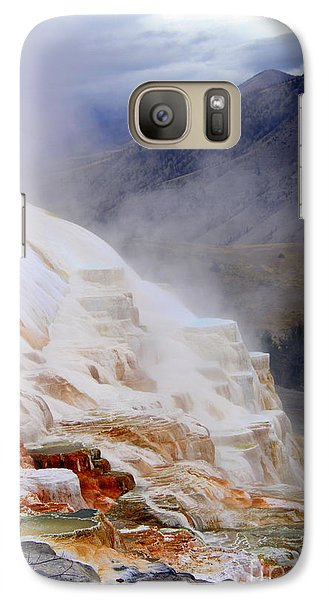 Galaxy Case featuring the photograph Travertine Terracce by Irina Hays