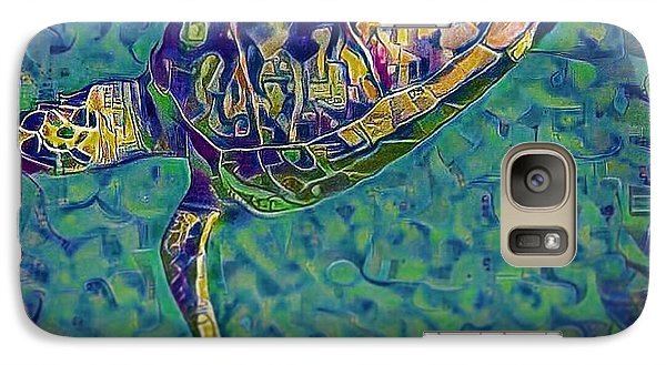 Galaxy Case featuring the digital art Travis The Turtle by Erika Swartzkopf