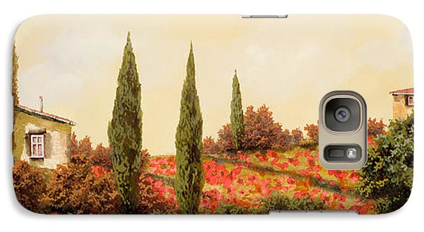 Landscapes Galaxy S7 Case - Tre Case Tra I Papaveri by Guido Borelli