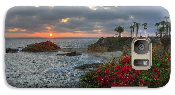 Galaxy Case featuring the photograph Treasure Island Beach Shoreline by Eddie Yerkish