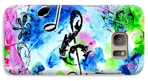 Galaxy Case featuring the mixed media Treble Mp by Genevieve Esson