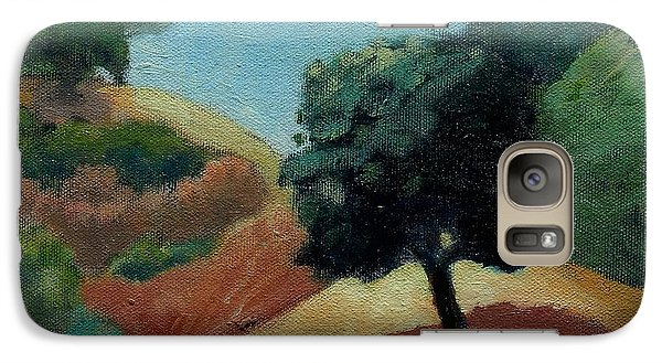 Galaxy Case featuring the painting Tree Alone by Gary Coleman