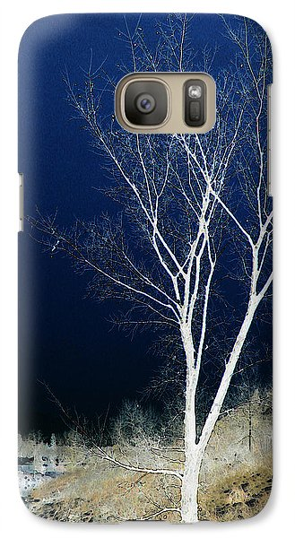 Galaxy Case featuring the photograph Tree By Stream by Stuart Turnbull