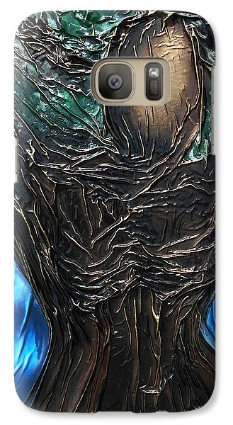 Galaxy Case featuring the mixed media Tree Goddess by Angela Stout