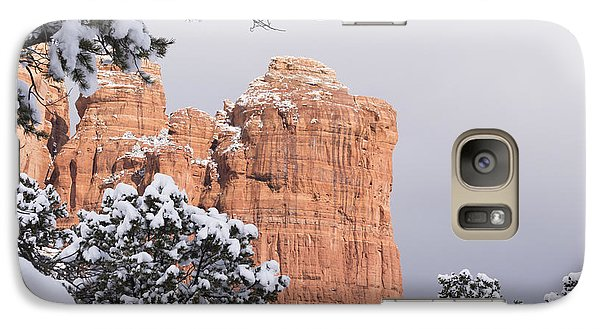 Galaxy Case featuring the photograph Tree Hanging Over Coffee Pot by Laura Pratt
