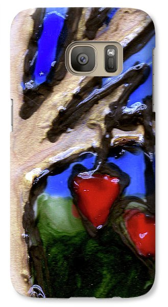 Galaxy Case featuring the painting Tree Hearts by Genevieve Esson