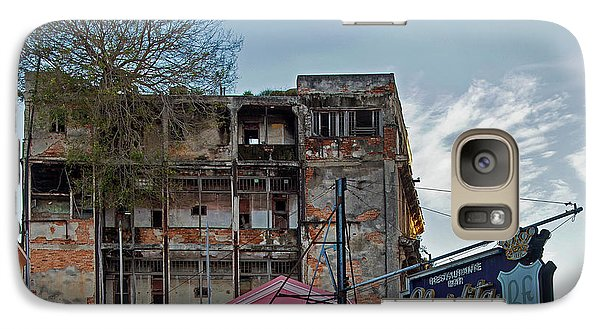 Galaxy Case featuring the photograph Tree In Building Over La Floridita Havana Cuba by Charles Harden