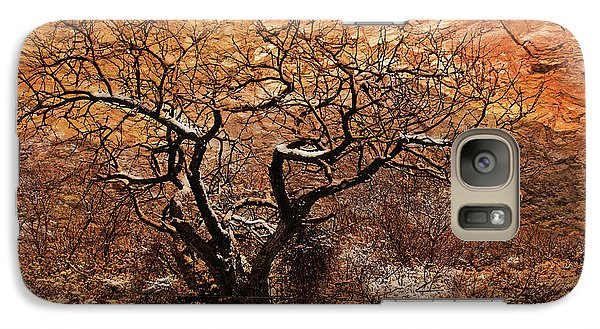 Galaxy Case featuring the photograph Tree In Winter by Barbara Manis
