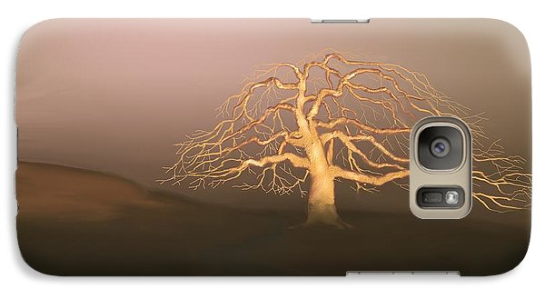 Galaxy Case featuring the digital art Tree In Winter I by Kerry Beverly