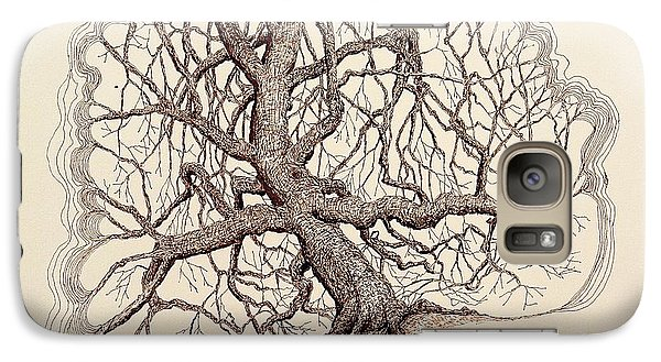 Galaxy Case featuring the drawing Tree In Winter II by Kerry Beverly