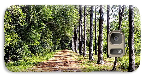 Galaxy Case featuring the photograph Tree Lined Path by Terri Mills