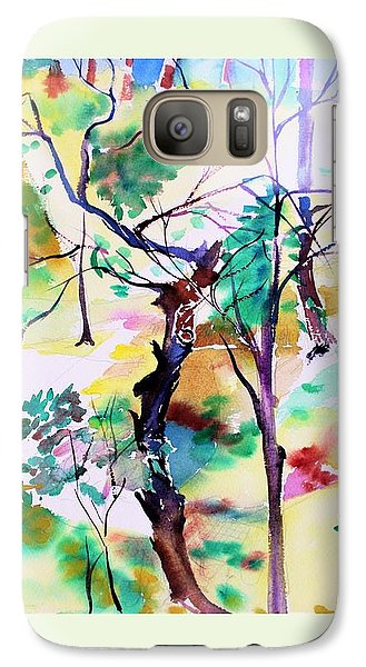 Galaxy Case featuring the painting Tree Lovers by Mindy Newman