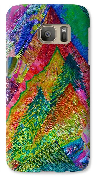 Galaxy Case featuring the painting A Tree Motif by Polly Castor