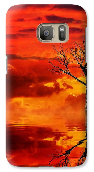 Galaxy Case featuring the mixed media Tree Of Destruction by Gabriella Weninger - David