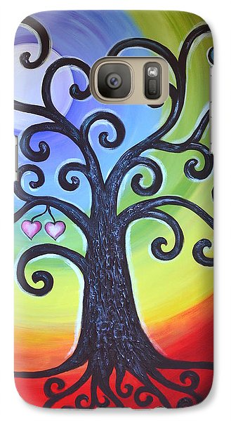 Galaxy Case featuring the painting Tree Of Life Love And Togetherness by Agata Lindquist