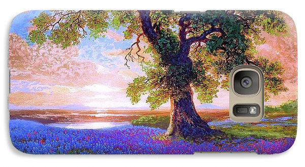 Peach Galaxy S7 Case - Tree Of Tranquillity by Jane Small