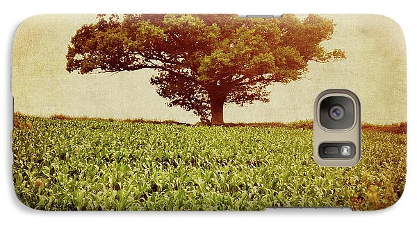 Galaxy Case featuring the photograph Tree On Edge Of Field by Lyn Randle