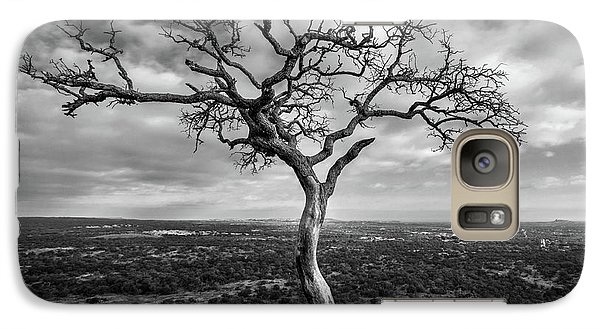 Tree On Enchanted Rock In Black And White Galaxy S7 Case